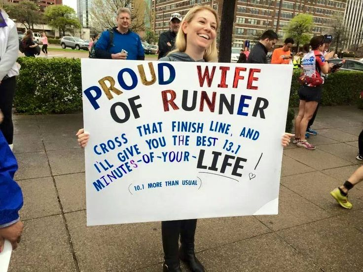 support your new runner - race sign