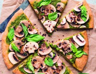 Mushroom Pesto Dairy Free Pizza: Going Dairy Free with My Favorite Foods