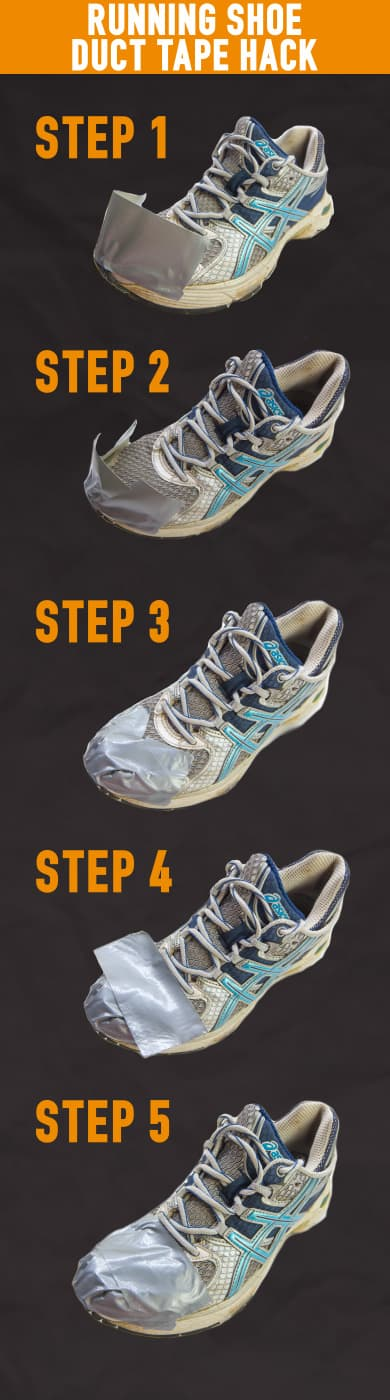duct tape running shoes