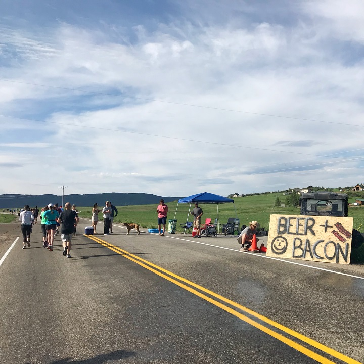 Hilarious race signs and actual aid station