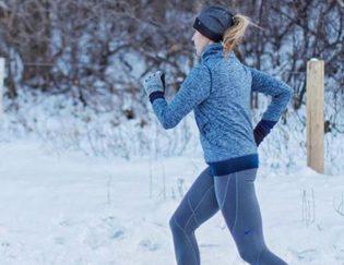 running snow