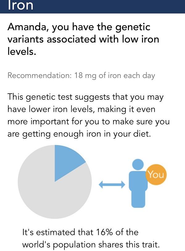 genetic low iron