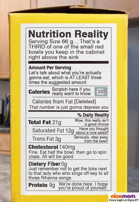 funny food label