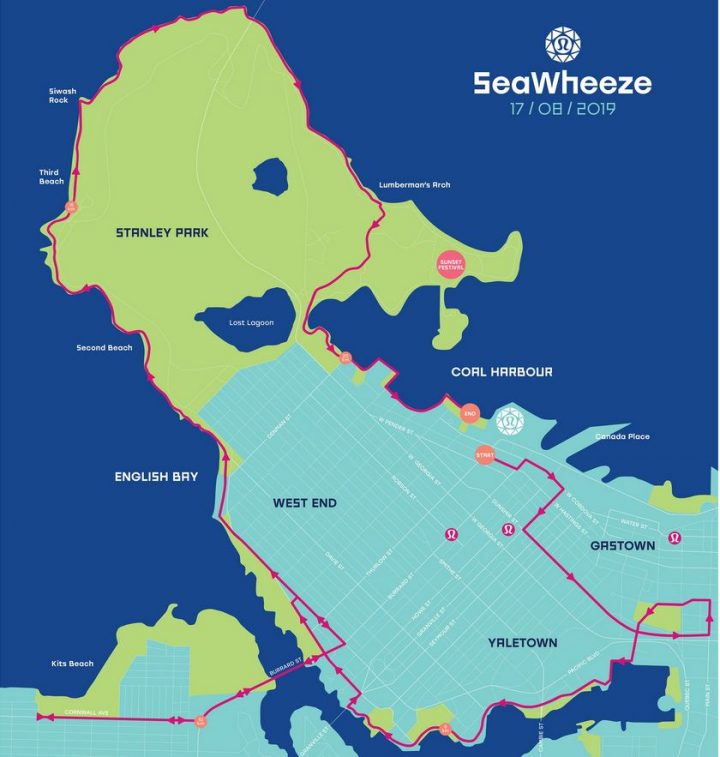 Seawheeze Route