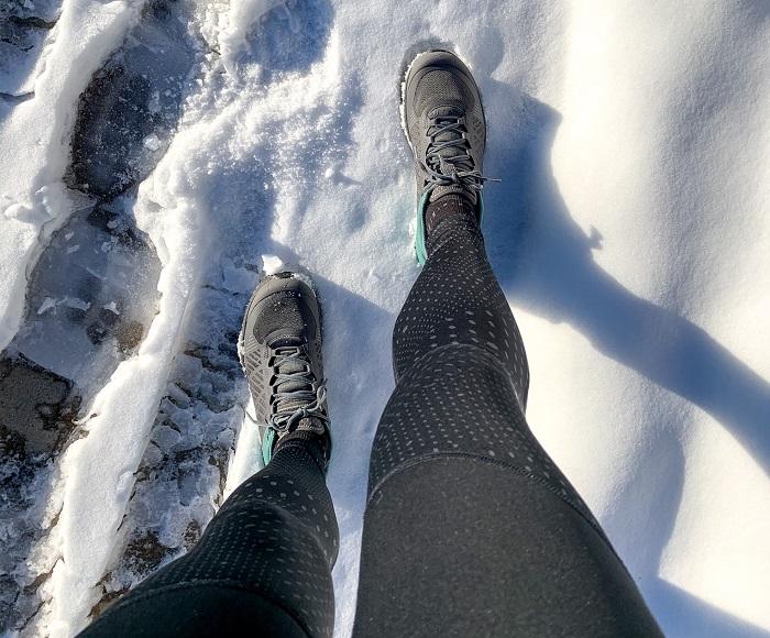 winter running socks