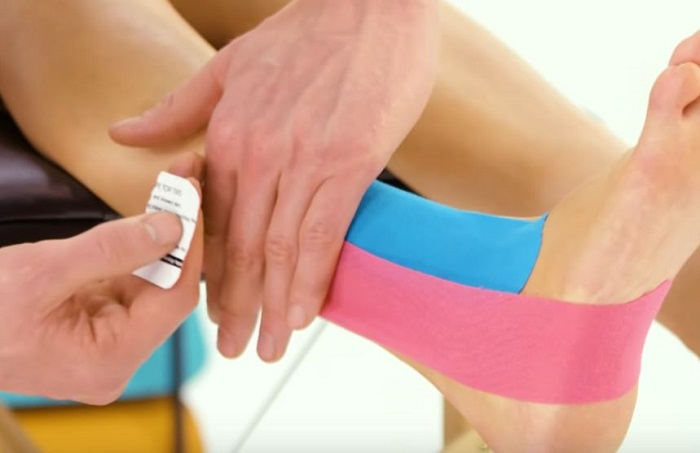 taping ankle pain while running