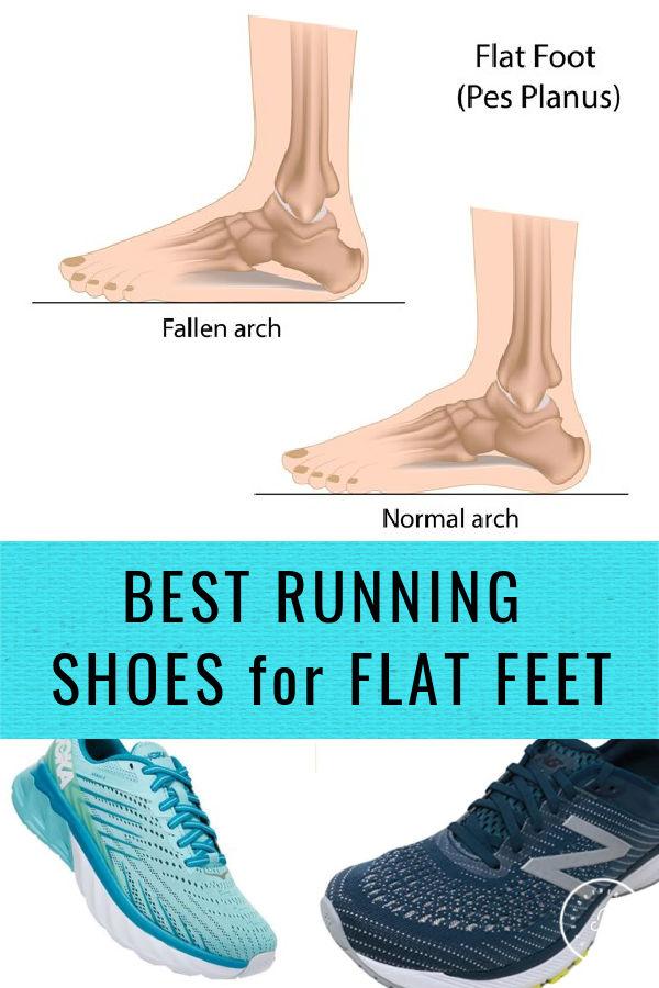 Zapatos para correr con pies planos