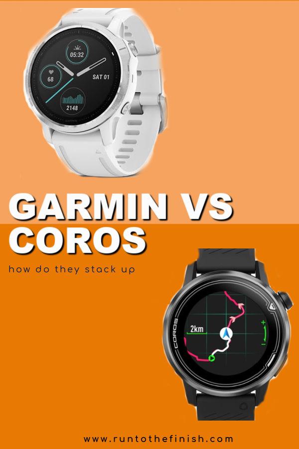 Coros vs Garmin