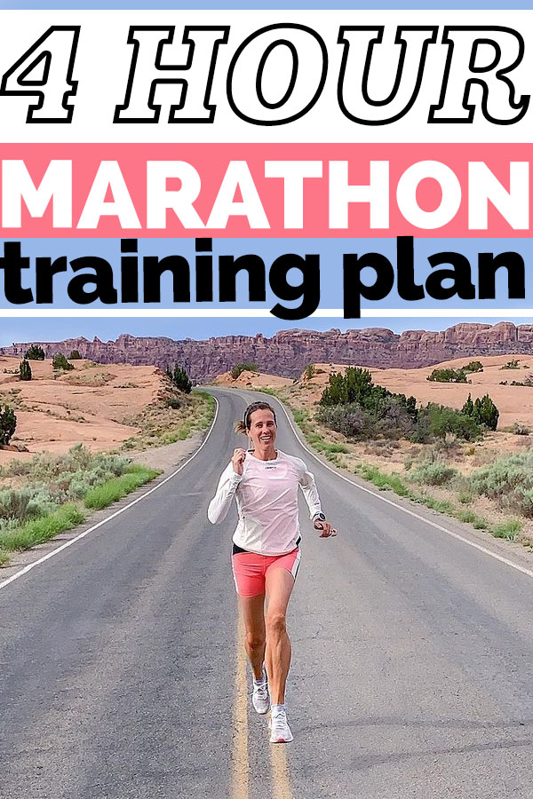 4 Hour Marathon Training Plan