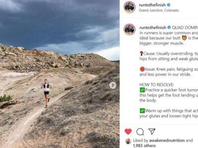 instagram running coach